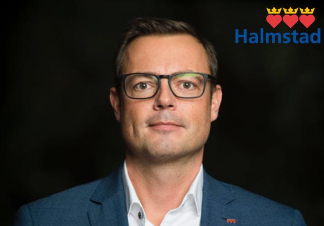 Jonas Bergman, M, kommunstyrelsens ordförande i Halmstad